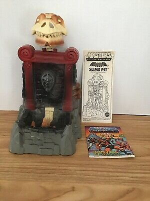 1985 He-man Masters Of The Universe Slime Pit Playset Complete Instruction Comic