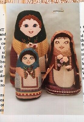 Peasant Doll Counted Needlepoint Pattern & Threads - Pat Morse