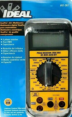 IDEAL Test-Pro Contractor-Grade Multimeter 3 Phase Rotation True RMS Capacitance