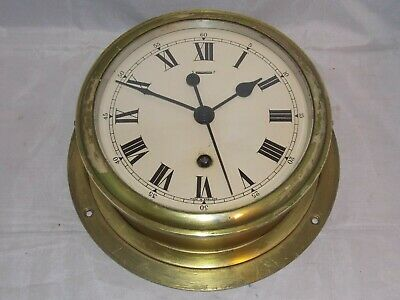 RARE 8DAY SHIPS BULKHEAD CLOCK BY F.W. ELLIOTT, LONDON IN SUPERB CONDITION c1952