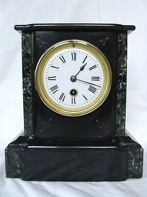 Antique/19th Century Mantle Clock (slate and marble) in working order