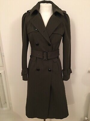 1930s / 1940s Style Brand New Topshop Green Mid Length Wool Coat Size 10