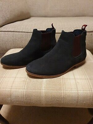 Ted Baker Boys Blue Suede Boots Size 2