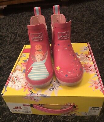 Joules Jnr Wellibob Pink Fairy (uk 12)