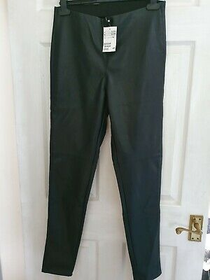 H&m Faux Leather Leggings Size 16 New With Tags