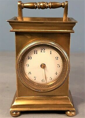 Antique French 8 day Brass Carriage Clock