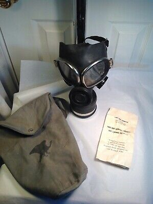 New Vintage Lake Erie Chemical Cartridge Riot Control Gas Mask W/ Original Sack