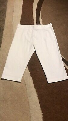Girls Age 7 Years Next White Cropped Leggings
