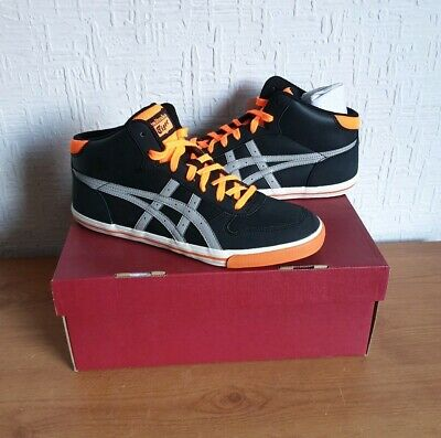 Women's Onitsuka Tiger (ASICS) Aaron Mid Black Casual Trainers: Size UK 7/Eur 40