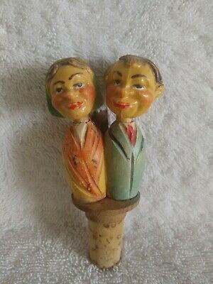 Vintage Mechanical Kissing Wine Bottle Cork Stopper