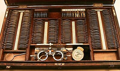 Vintage Optometry Trial Lens Set (over 200) with Case, Frame, Spherometer