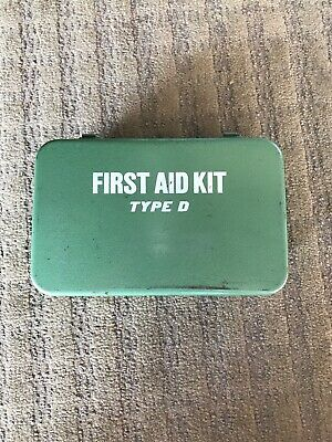 Vintage Bullard Metal First Aid Kit With Contents Green Type D