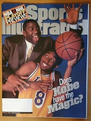 Kobe Bryant First Sports Illustrated Magazine: 27 April 1998 Los Angeles Lakers