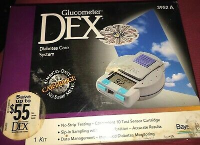 New glucometer dex diabetes care system 3952A