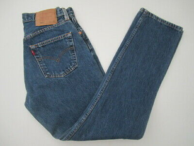 VTG Womens 29x30 28x30 Levis 501 button fly blue jeans made in Mexico