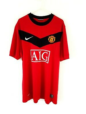 Manchester United Home Shirt 2009. Large. Official Nike Red Adults Man Utd Top L