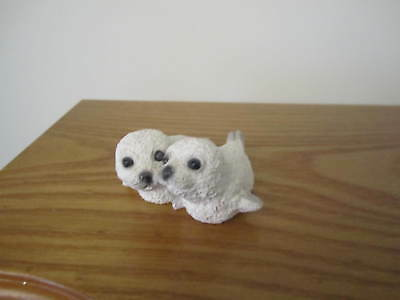 Stone Critters Littles Harp Seal Babies Figurine SCL-137