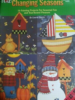 Plaid Changing Seasons  16 painting project Decorative Painting Book #9600