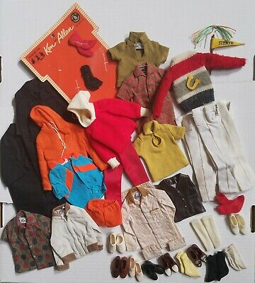 Vintage Ken Doll Clothing Mixed Lot Accessories Pant Shirt College SEE PICS 50pc
