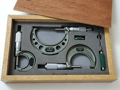 """MITUTOYO - Outside Micrometer Set: 0""""-1""""; 1""""-2""""; 2""""-3""""; Resolution 0.0001"""""""