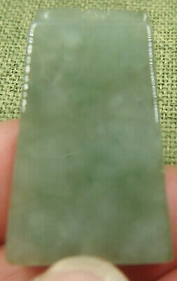 Certified Oily Green Natural A Jade Jadeite Hand-Carved Safe Sound 平安无事牌 Pendan