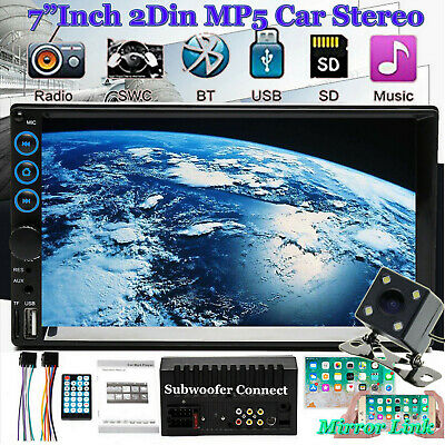 "2020 HD Lens Double 2Din 7"" Car Stereo Radio MP5 Player In Dash BT MP3 + CAMERA"