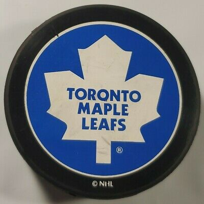 Toronto Maple Leafs Nhl Vintage Official Hockey Puck By Puck World - Cz Rare