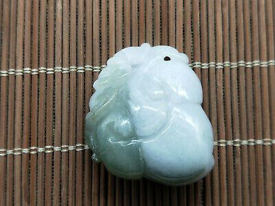 5A Delicate Chinese Hand-carved aristocratic wearing Jadeite jade pendant Ruyi