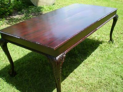 Large 8 seater table mahogany timber chippendale antique reproduction 2mt long