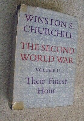 Winston Churchill - The second world war volume 2 - Their finest hour hardback b