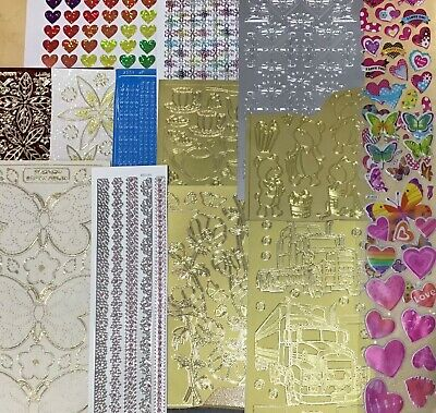 Bulk Sale Assorted Stickers Large Variety Scrapbooking/Card Making (100+)