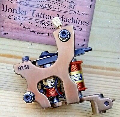 Border Tattoo Machine Cut-Back-Liner Iron Treated Frame Custom 8 Layer Coils