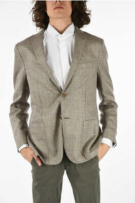 CORNELIANI men Suit Jackets Grey Unlined Single Breasted Blazer Sz 50 IT Silk...