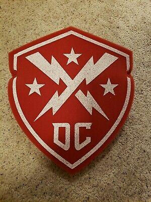 DC Defenders XFL Foam Shield  Inaugural 1st Game Promo 2020 Red and White