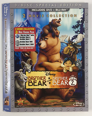 Brother Bear 1/2 *Slipcover ONLY* for DVD+BLURAY WALT DISNEY ANIMATION EMBOSSED