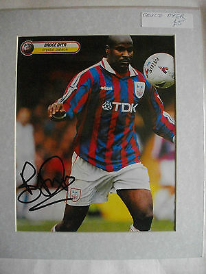 Bruce Dyer Autographed Mounted Photo Crystal Palace