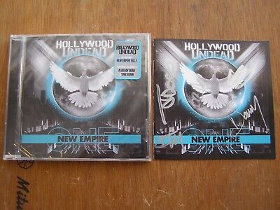 Hollywood Undead Signed Cd New Empire Vol.1 Autographed By Full Band 2020