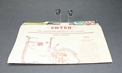 Vtg SMYRN Embroidery Tool Machine For Alto Relieve Coarse Velvet Appearance HTF