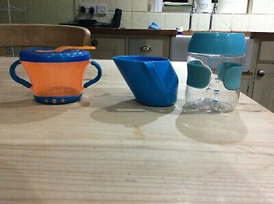 Nubby grip snack pot , Oxo sippy cup and Doidy sippy cup bundle