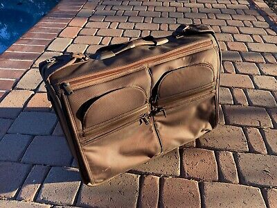 "Tumi Carry-On Rolling Garment Bag G4 Alpha Model #22033D4 Brown 22"" 2 Wheels"
