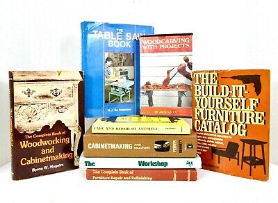 CARPENTRY & WOODWORKING Lot of 8 Books: Illustrated, Instructional, Patterns
