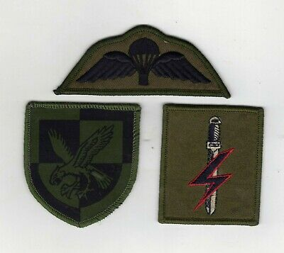 Patch SFSG,TRF Abzeichen farbig auf oliv Special Forces Support Group