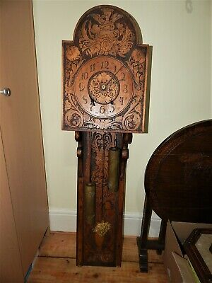 Antique Stunning Unique Weight Driven Wall Clock