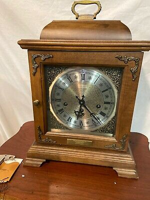 Hamilton Wheatland Lancaster Mantle Clock Key 2 Jewels W. Germany 340-020 Works