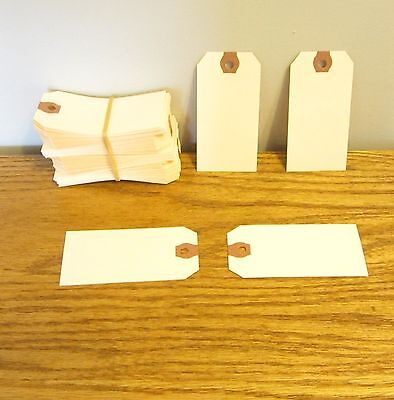 """25 Avery Dennison Blank Shipping Inventory Tags #3 Trade Size 3 3/4"""" By 1 7/8"""""""