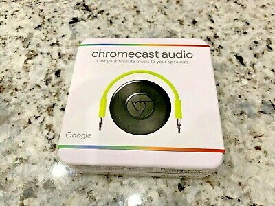 NEW SEALED Google Chromecast Audio Media Streamer - Black
