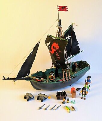 Playmobil Pirate Ship 5238 Bundle with Figures and Accessories