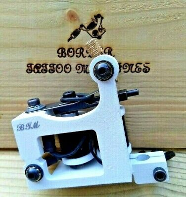 Border Tattoo Machine,Liner Custom Iron White Frame 8 Layer 32Mm T-Top Coils