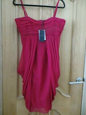 Bnwt Ladies Size 14 (4) 100% Silk Dress By  Ted Baker