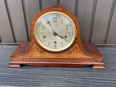 Large, Antique Mantle Clock in Beautiful Inlaid Case. Made in England.Working.